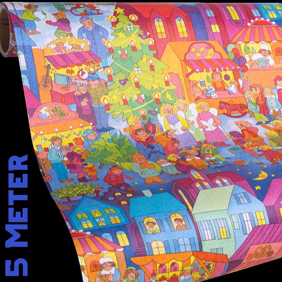 Weihnachtsmarkt | Kinder Weihnachts-Geschenkpapier