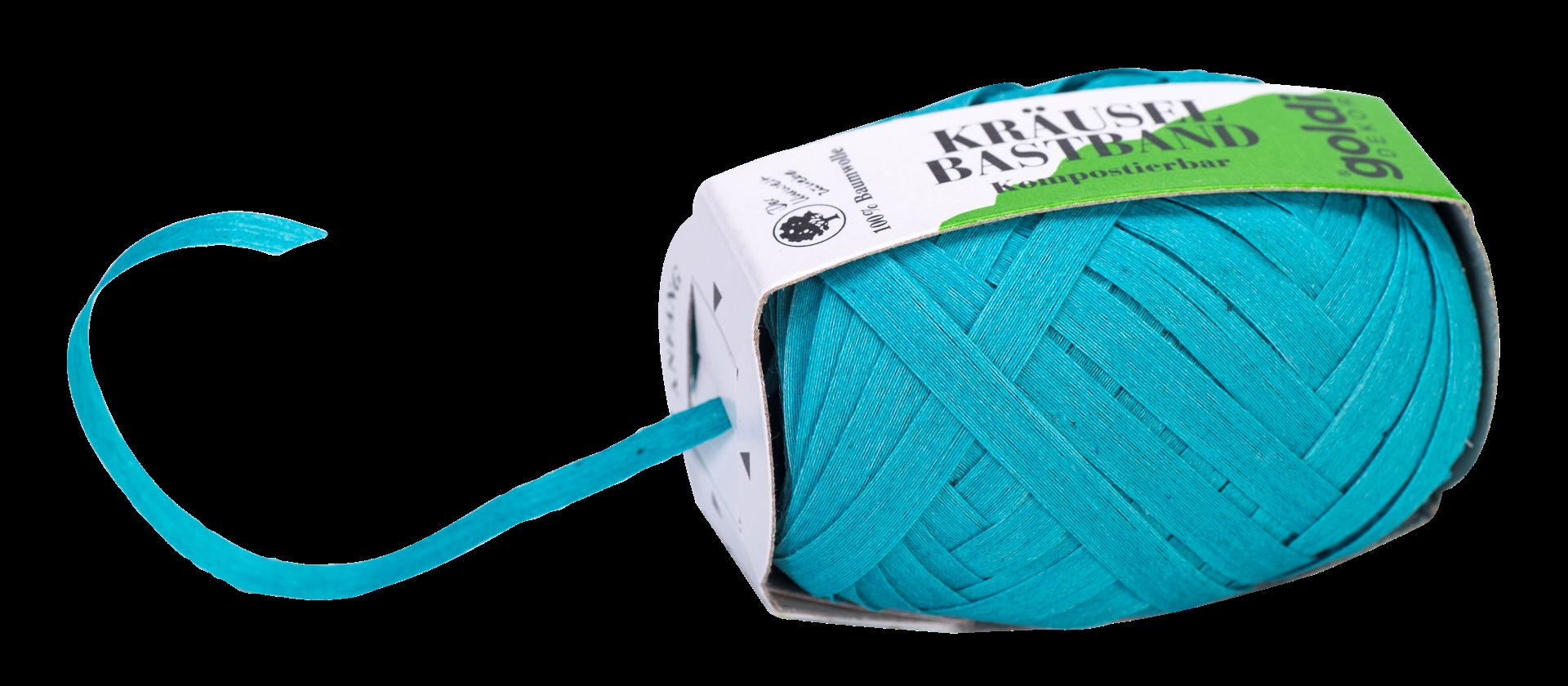 Geschenkband Baumwolle | Türkis | umweltfreundlich