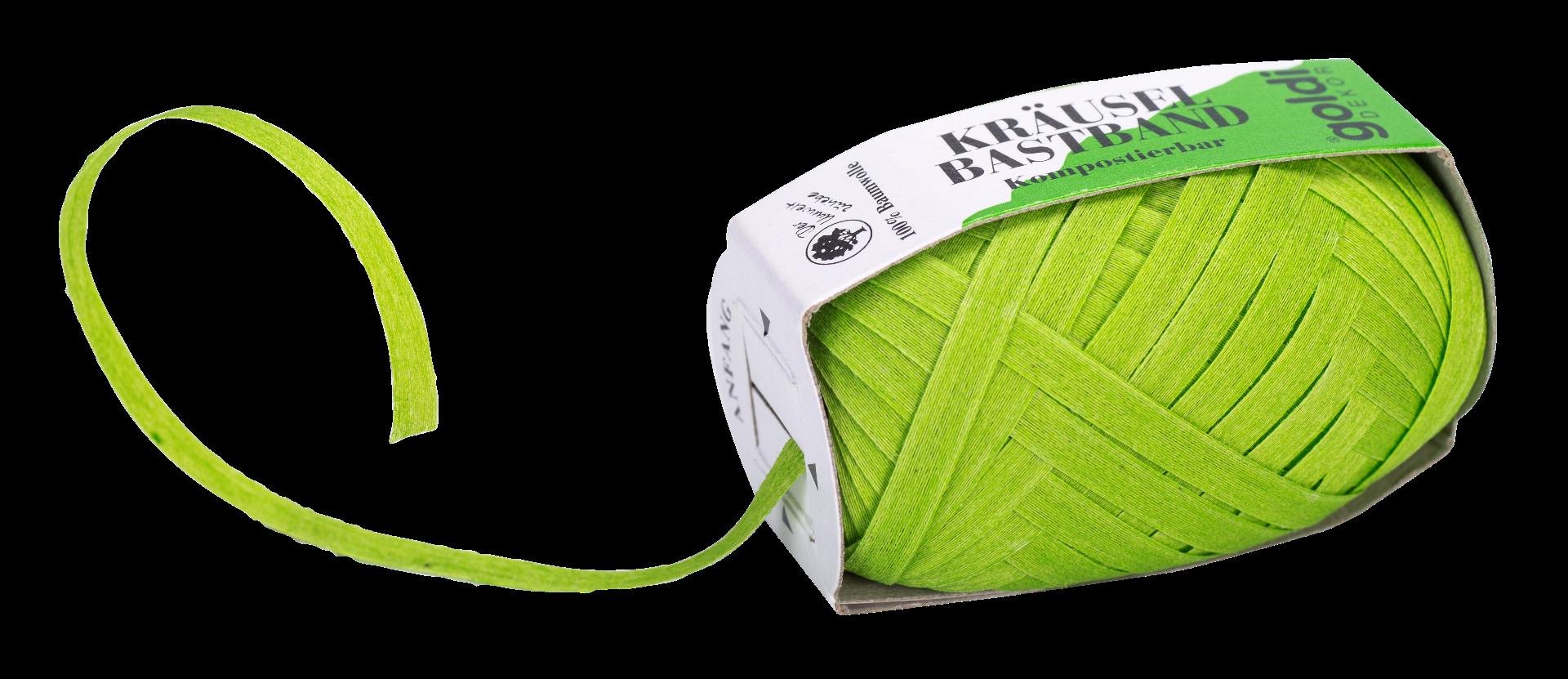 Geschenkband Baumwolle | Apfel-Grün | umweltfreundlich