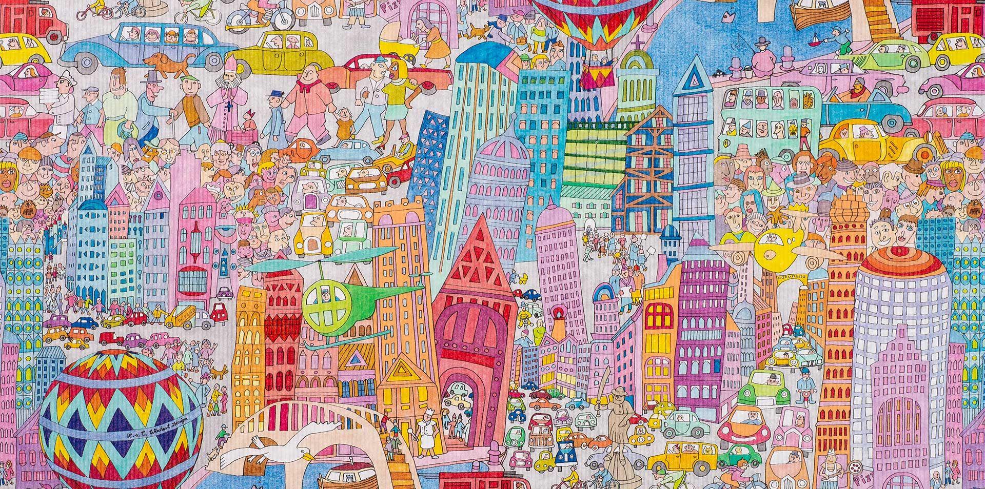 Geschenkpapier City | Kinder + Jugend | Geschenkpapieransicht