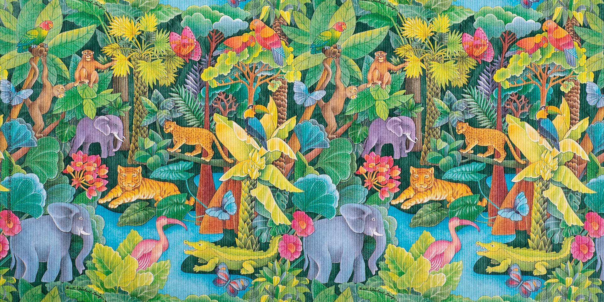 Geschenkpapier Kinder + Jugend | Dschungel | Geschenkpapieransicht