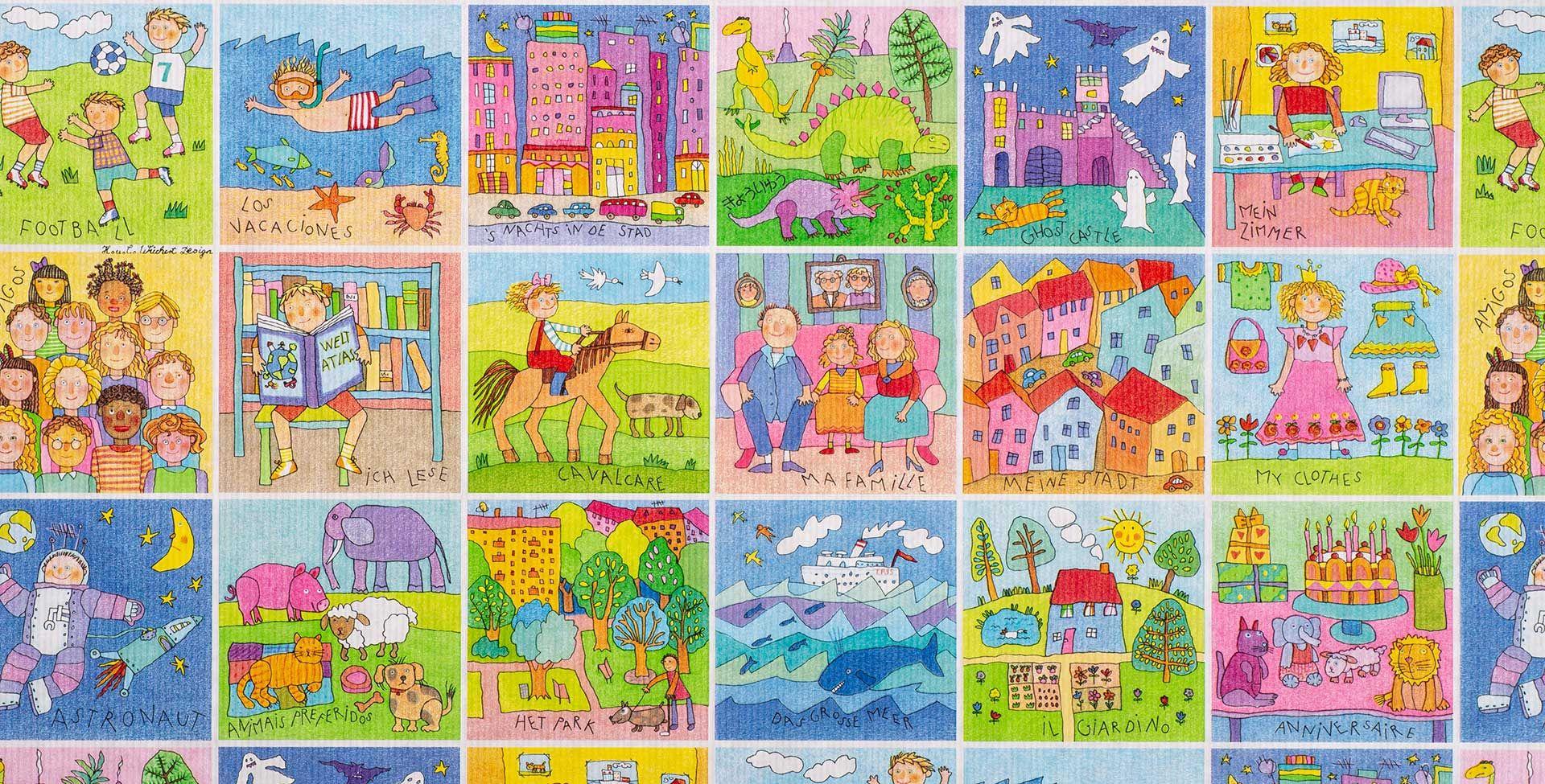 Geschenkpapier Kinder | Memory | Geschenkpapieransicht