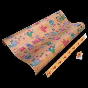 Geschenkpapier Kinder | Pepino Natur | Geschenkpapier + Geschenkanhänger