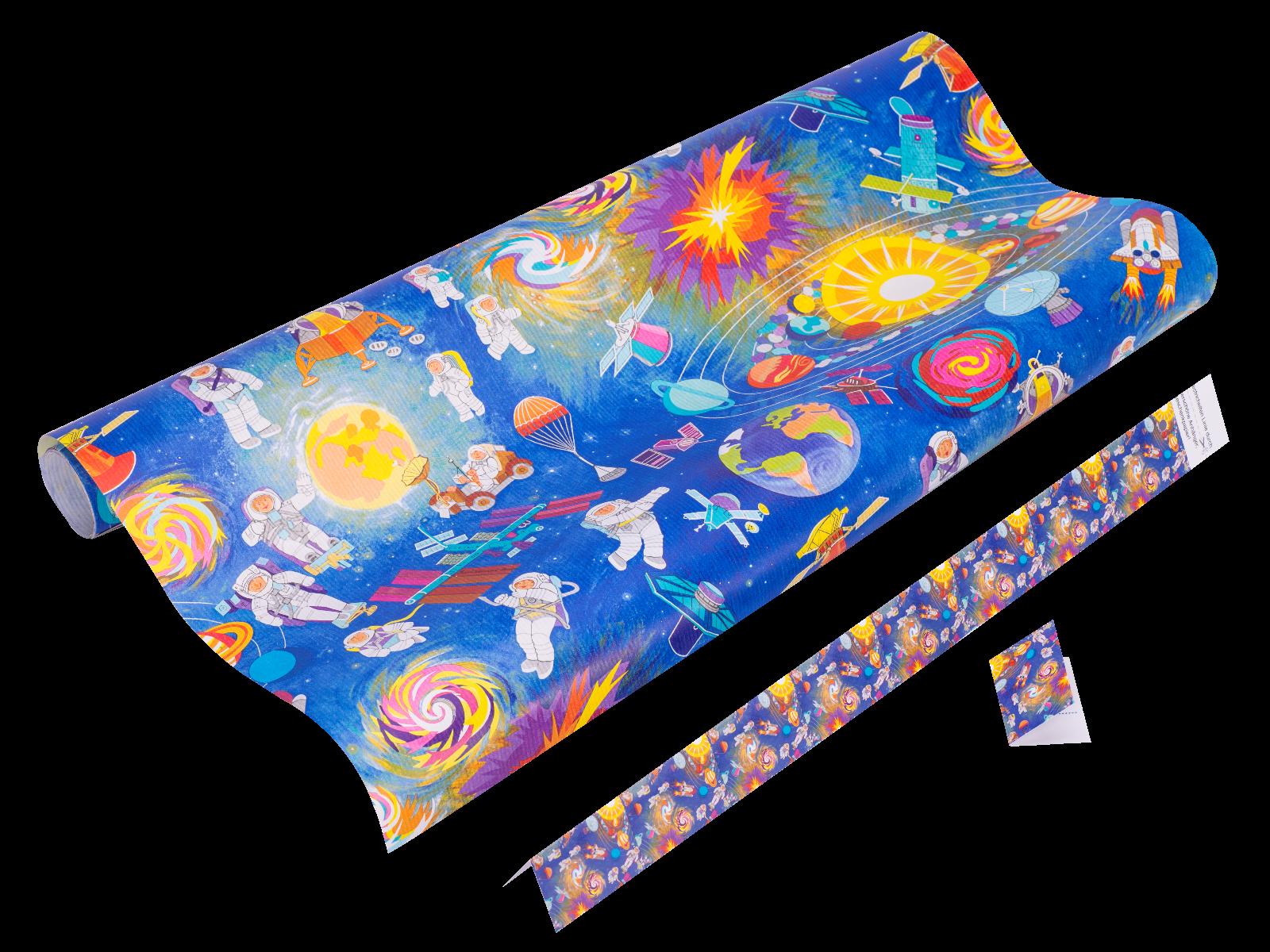 Space - Geschenkpapier Weltraum
