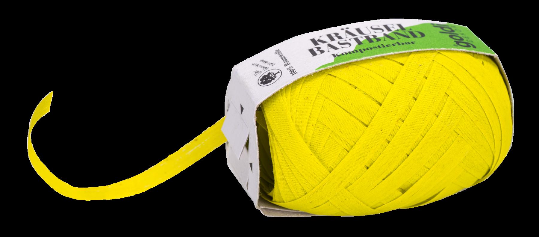 Geschenkband Baumwolle | Zitrone | umweltfreundlich