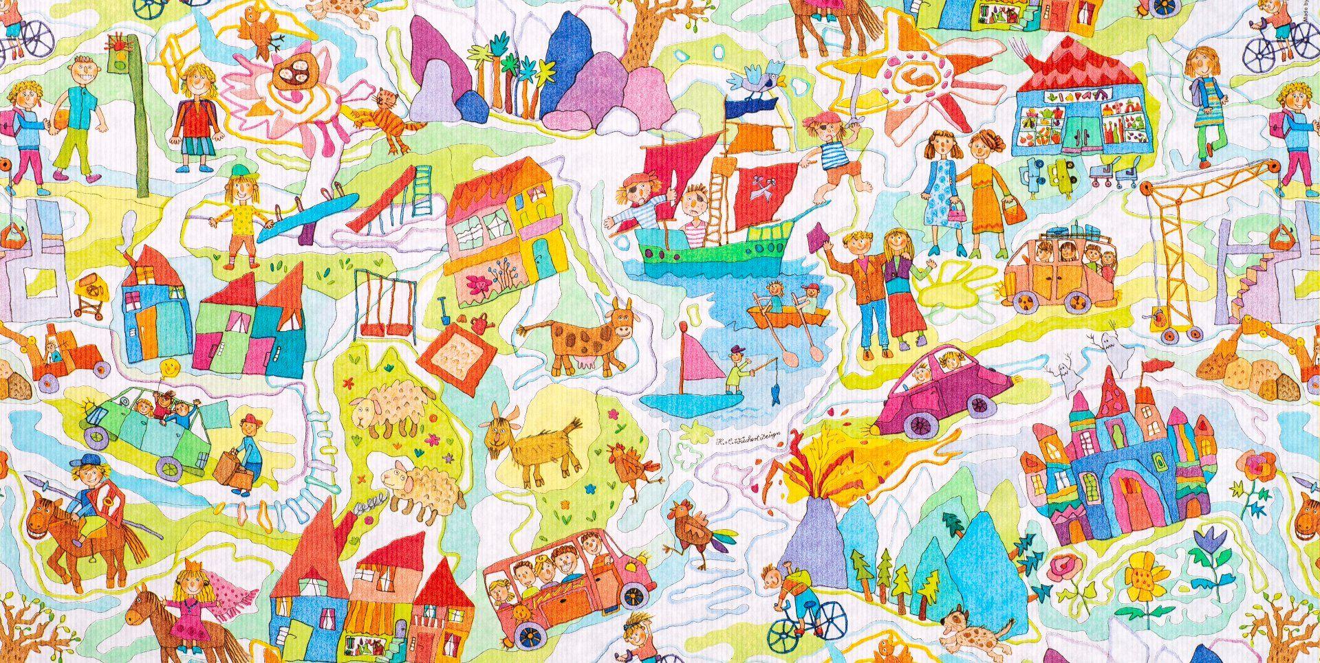 Geschenkpapier Kinder | Kinderzeit | Geschenkpapieransicht