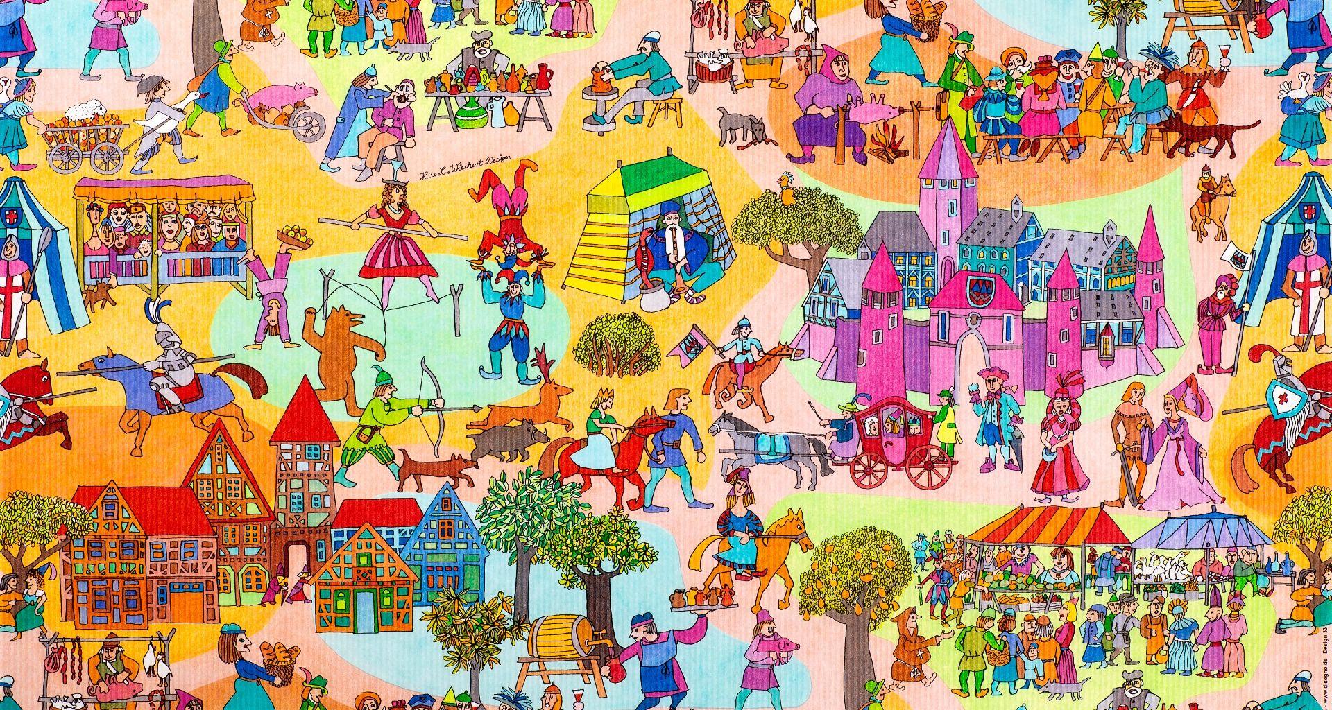 Geschenkpapier Kinder + Jugend | Ritterzeit | Geschenkpapieransicht