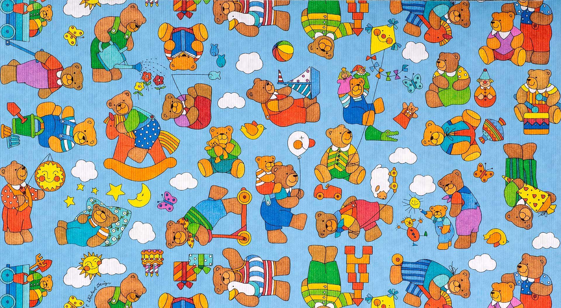 Geschenkpapier Kinder | Brummel Sommer | Geschenkpapieransicht