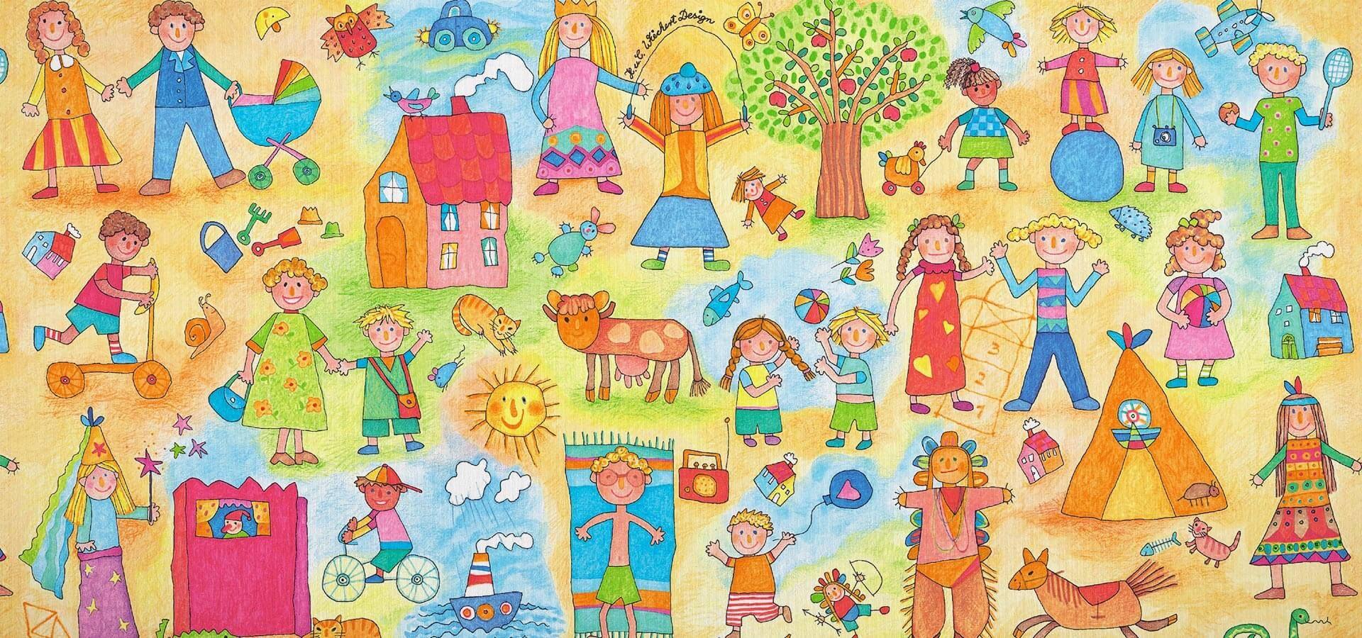 Geschenkpapier Kinder   Kinder Kinder   Geschenkpapieransicht