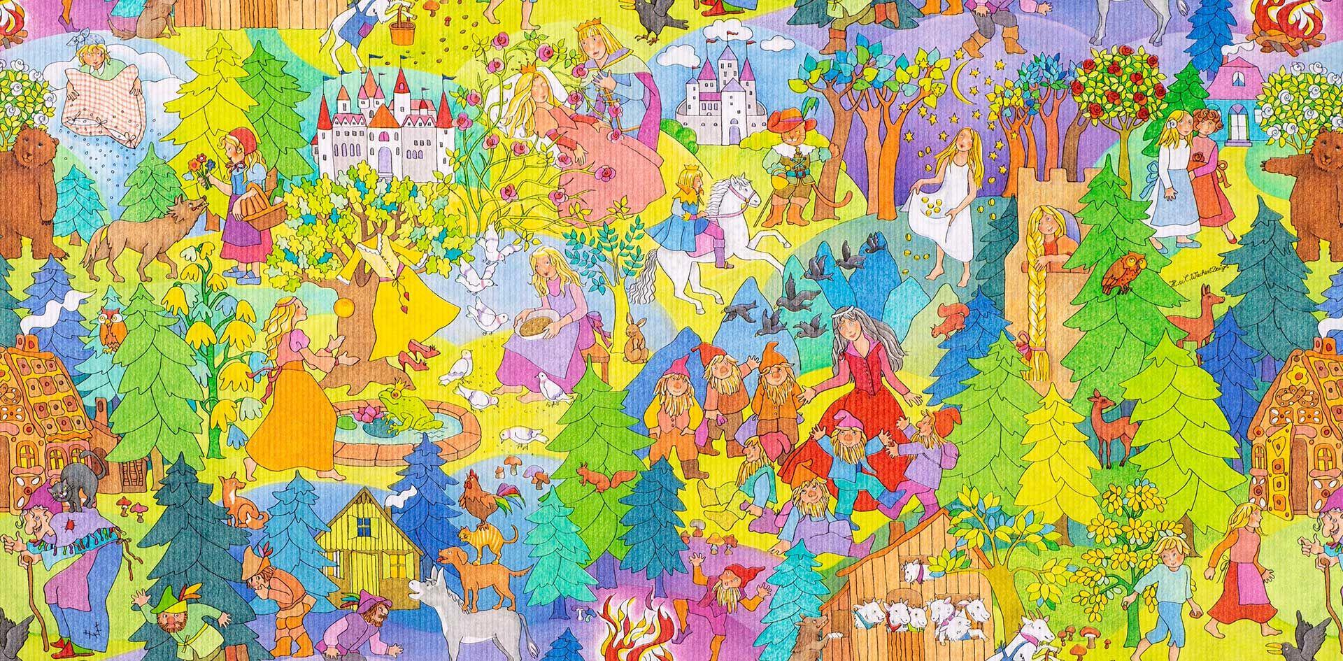 Geschenkpapier Kinder | Grimms Märchen | Geschenkpapieransicht