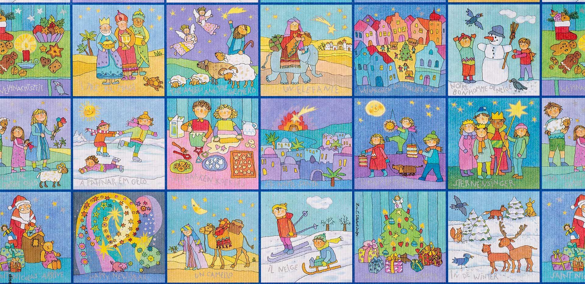 Geschenkpapier Kinder   Memory Weihnachten   Geschenkpapieransicht