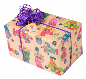 Geschenkpapier Kinder | Pepino Natur | Geschenk