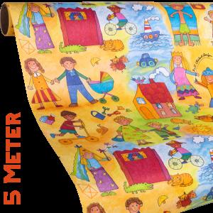 Geschenkpapier Kinder | Kinder Kinder | Geschenkpapier Ausschnitt