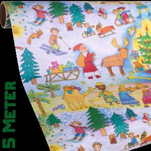 Geschenkpapier Kinder | Kinder Weihnachten | Geschenkpapier Ausschnitt