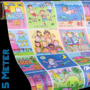 Geschenkpapier Kinder | Memory | Geschenkpapier Ausschnitt