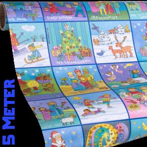 Geschenkpapier Kinder | Memory Weihnachten | Geschenkpapier Ausschnitt