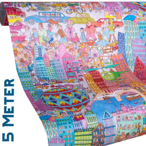 Geschenkpapier City | Kinder + Jugend | Geschenkpapier Ausschnitt