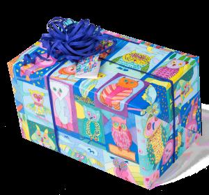 Geschenkpapier Kinder + Jugend | Lese Eulen | Geschenk