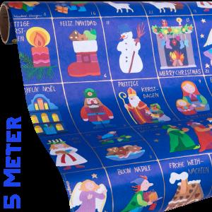 Geschenkpapier Kinder + Jugend | Weihnachtszeit | Geschenkpapier Ausschnitt