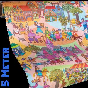 Geschenkpapier Kinder + Jugend | Ritterzeit | Geschenkpapier Ausschnitt