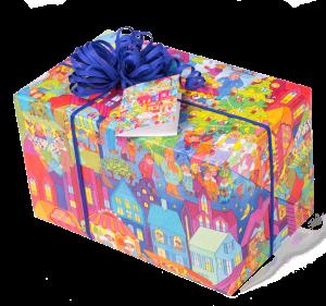 Geschenkpapier Kinder | Weihnachtsmarkt | Geschenk