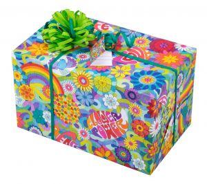 Flower Power Geschenkpapier für Kinder + Jugend | Geschenk