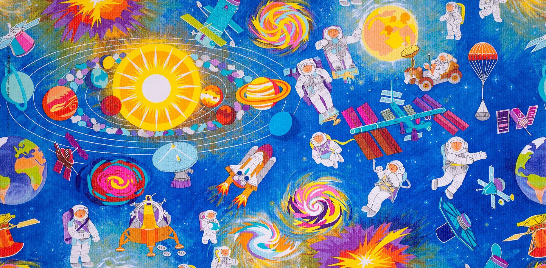 Geschenkpapier Kinder + Jugend | Space | Geschenkpapieransicht
