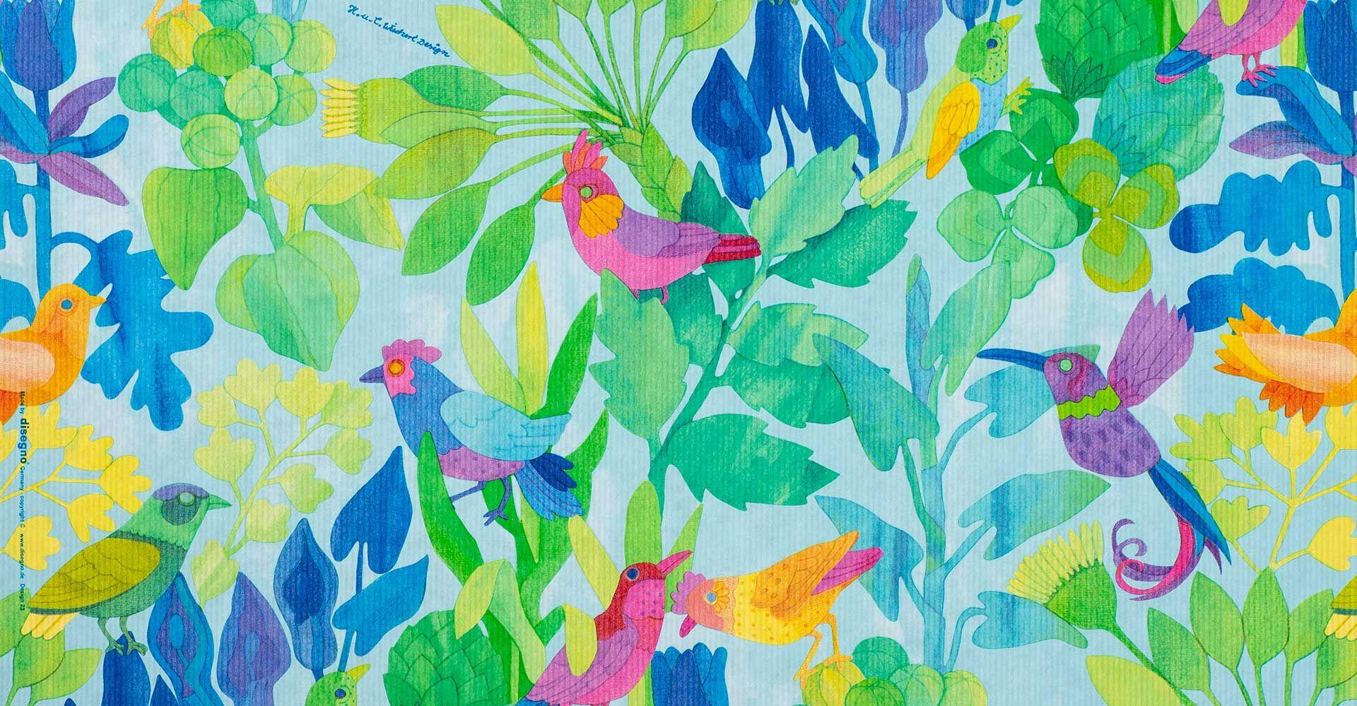 Geschenkpapier Jugend + Erwachsene | Birds | Geschenkpapieransicht