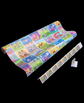 Geschenkpapier Kinder | Memory | Geschenkpapier + Geschenkanhänger