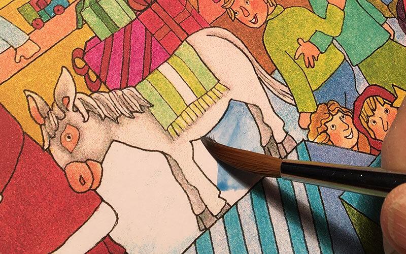 Geschenkpapier Disegno Reinzeichnung Pinsel