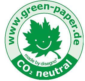 Green Paper Symbol für umweltfreundliches Disegno Geschenkpapier