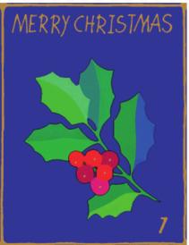 Mistelzweig | Weihnachtsgeschenkpapier Kinder