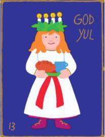 Heilige Lucia | Weihnachtsgeschenkpapier Kinder