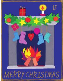 Juletomte | Weihnachtsgeschenkpapier Kinder