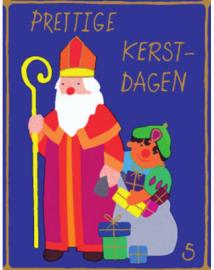 Sinterklass mit zwarte Piet | Weihnachtsgeschenkpapier Kinder